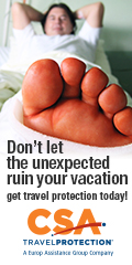 Get travel insurance from CSA Travel Protection